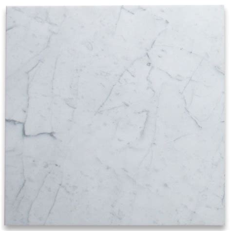 24x24 White Granite Tile by Carrara White 24x24 Tile Polished Marble From Italy