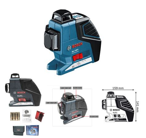 bosch laser level brand new bosch gll3 80p 360 degree multi line pro laser level free express ebay