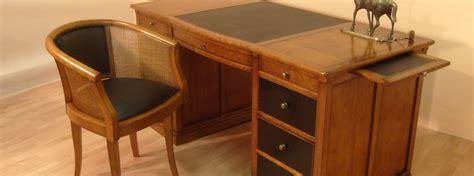 bureau en bois bureau ministre en merisier bora meubles bois massif