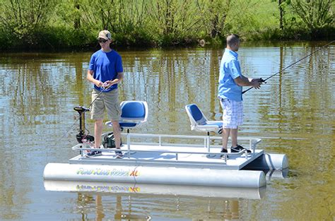 Small Lake Pontoon Boats by Two Pontoon Fishing Boat For Small Lakes Pond King