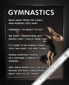 Gymnastics Saying