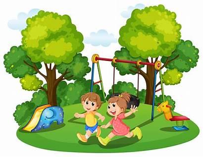 Park Running Clipart Illustration Boy Cliparts Swing
