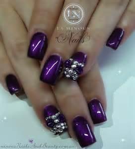Purple nail design designs