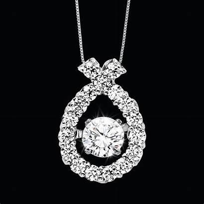 Necklace Diamond Ribbon Zac Pearlescence Rhythm