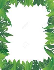 Jungle Leaf Border Clip Art