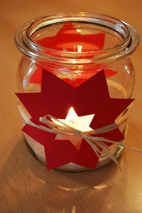 Dekoration Weihnachten Basteln windlicht mit sternen basteln weihnachten