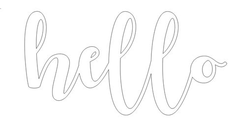 Hello Cut Out Template by Diy Cut Words With Free Templates