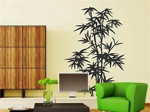Wandtattoo Für Wohnzimmer : wandtattoo bambus pflanze ~ Buech-reservation.com Haus und Dekorationen