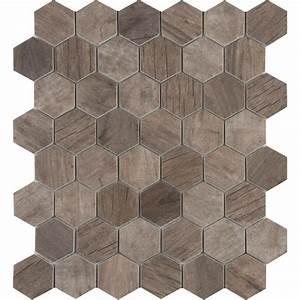 MS International Driftwood Hexagon 11 02 in x 12 76 in x