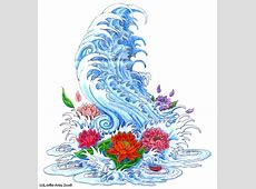 Waves Flower Tattoo Designs Tattoo Art