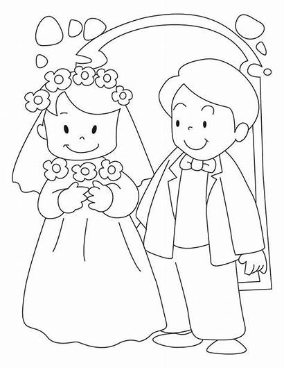 Coloring Pages Shower Groom Bride