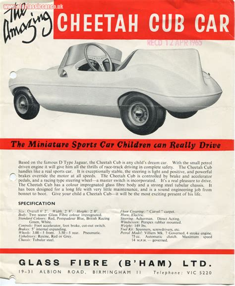 The Cheetah Cub, A Children's Villiers-powered Racing Car