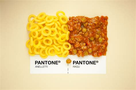 designers put food in pantone color system