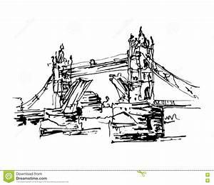London Bridge Dessin : london bridge vector vintage illustration vector illustration 92780066 ~ Dode.kayakingforconservation.com Idées de Décoration