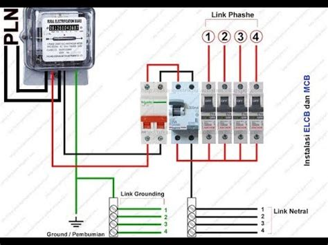 cara memasang elcb earth leakage circuit breaker youtube