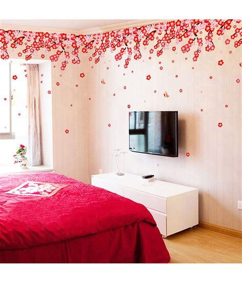 stickerskart pink  red flowers pink  red romantic