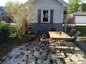 Jones Granite Remnant Patio - Rustic - Patio - chicago