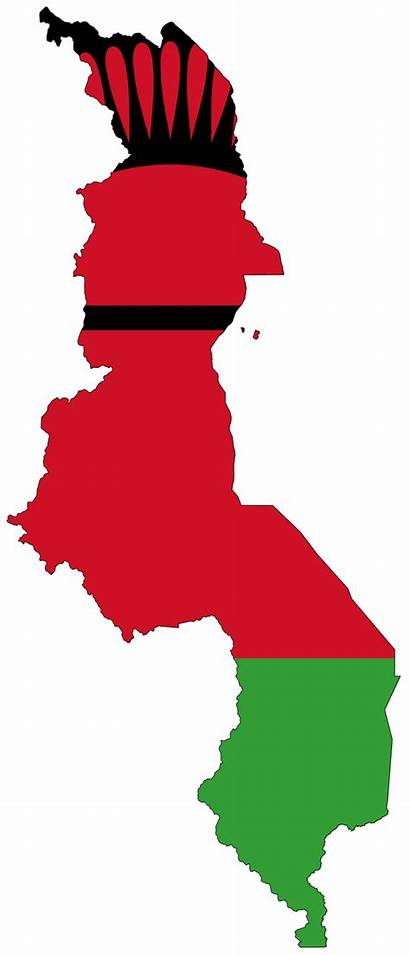 Malawi Flag Map Flags Africa Around Country