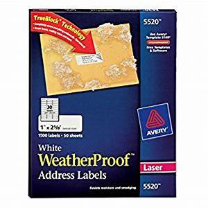 Amazoncom avery white weatherproof labels for laser for Avery weatherproof labels inkjet