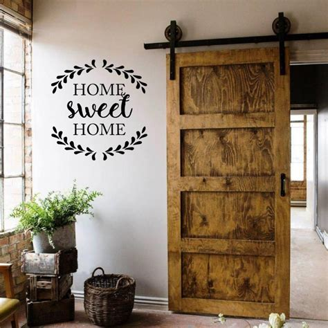 house wall decor home sweet home quote decal home decoration door rustic