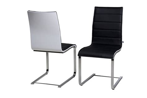 white high gloss backed dining chairs homegenies