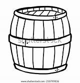 Barrel Cartoon Coloring Keg Sketch Wooden Template sketch template