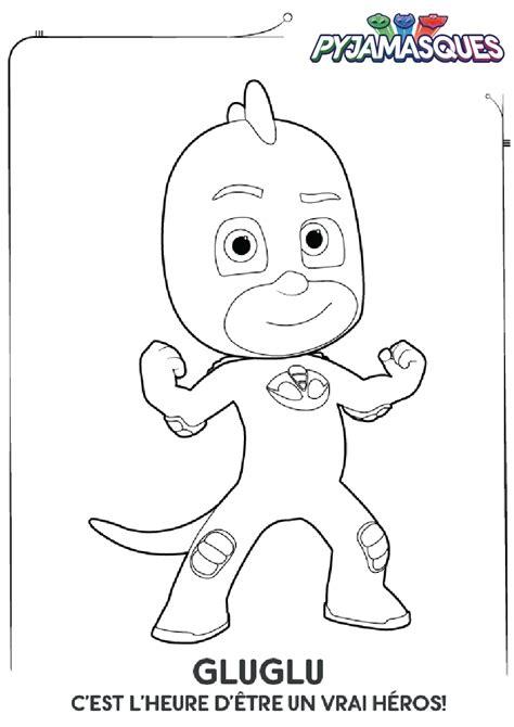Coloriage pyjamasque yoyo a imprimer dessin coloriage des. Coloriage Les Pyjamasques : Gluglu - Momes.net