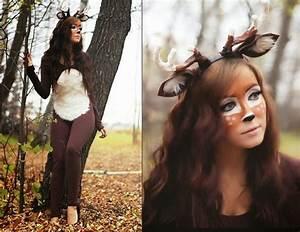 Karnevalskostüme Damen Selber Machen : kost me frauen fasching natur ideen hirsche makeup braun ~ Lizthompson.info Haus und Dekorationen