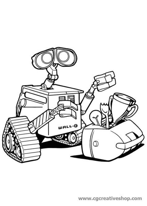 disegni di robot da colorare wall e robot della disney pixar disegno da colorare