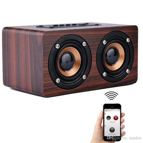 retro wooden bluetooth speaker  classic home wood hifi