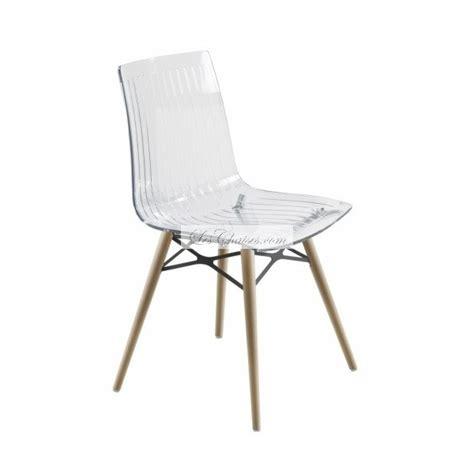 chaise transparente et bois chaise design pieds bois x treme wox et chaises bois