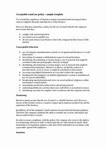 template email policy template With company email policy template