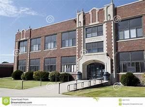 Generic High School Building Stock Image - Image of ...
