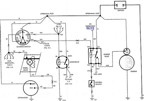 wire color codes  starter relay