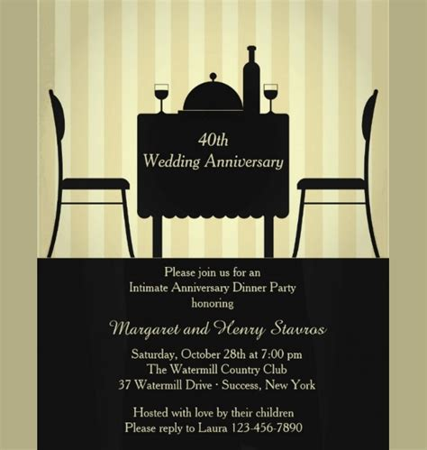 awesome anniversary invitation ideas ai word psd