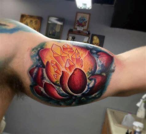 crystal tattoo designs  men polished stone ink ideas