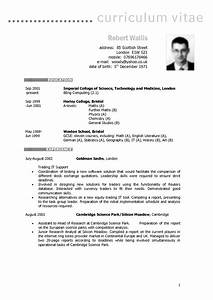 Example of european curriculum vitae format