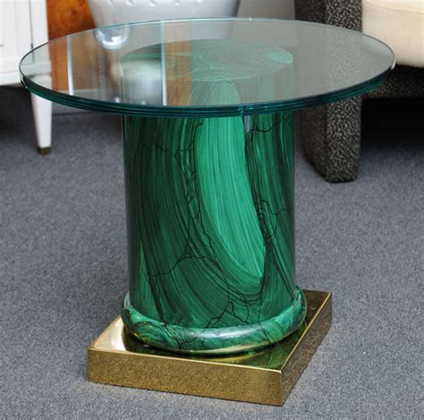 column table l sleek modern classic malachite column side table for