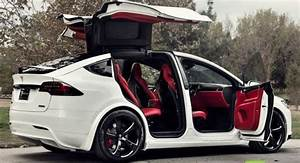 Awesome custom made Tesla Model X with Bentley red interior is selling for $180,000