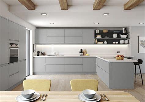 profile matt dove grey range open plan kitchen living