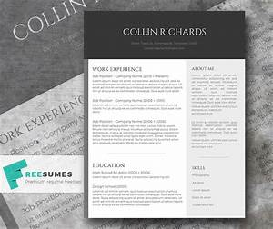 plain but trendy the free modern resume template With free modern resume