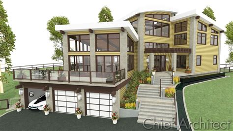 Steep Hillside Home Plans New House For Sloping Lots