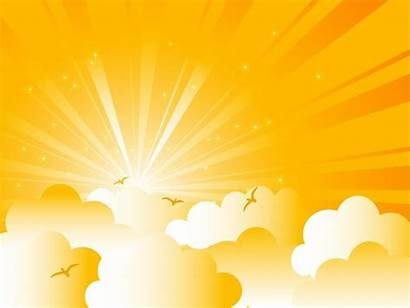 Sunrise Vector Svg Clouds Background Cartoon Graphic
