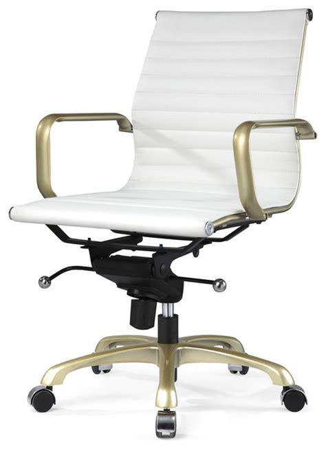 white and gold desk chair m344 eames style office chair white and gold modern