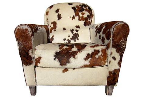 Cowhide Club Chair by Cowhide Club Chair On Onekingslane Feathering The