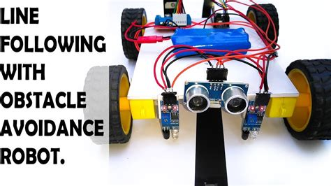 How Make Line Following With Obstacle Avoiding Robot