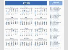New 20 Examples Yearly Calendar 2018 2019 Distriktslegencom