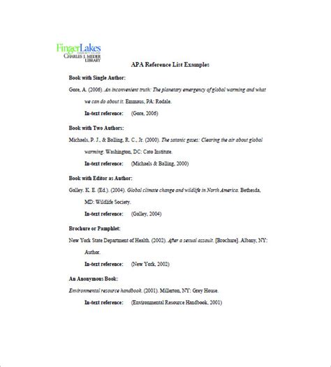 professional reference list template word budget