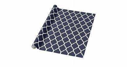 Moroccan Navy Wrapping Quatrefoil Paper