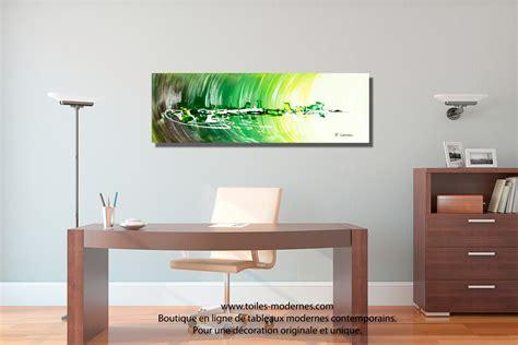 tableau de bureau tableau ville abstraite rectangle 3d vert pour une